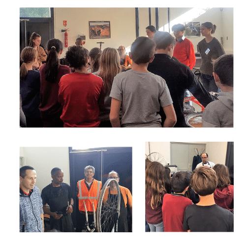 Les ateliers entretien vélos au Collège de l'Etang de l'Or