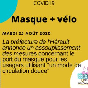 COVID19- Port du masque à vélo